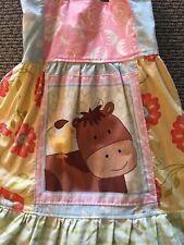 Etsy Boutique Farm Friends Donkey & Duckie Dress & Ruffle Pants Set Sz 3-4