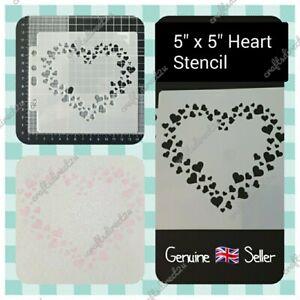 """Stencil - HEART - LOVE -  5"""" x 5""""  - Valentine - Wedding - Template - Layering"""