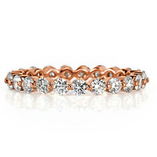 1.40 Cts Round Full Eternity Diamond Band Ring In 18K White,Yellow Or Rose Gold
