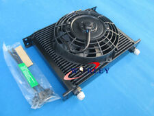 "Universal 30 ROW ENGINE/TRANSMISSION OIL COOLER + 7"" ELECTRIC FAN"