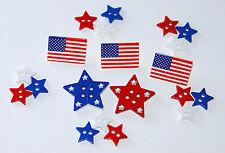 Patriotic Shapes / American Theme Stars & Flag Button / Dress It Up~ Jesse James