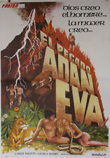 El pecado de Adan y Eva -- Cartel de Cine Original --