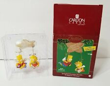 CARLTON CARDS HEIRLOOM THE SIMPSONS ORNAMENT BART & LISA Springfield Elementary