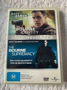 The Bourne Identity / Bourne Supremacy R4 (DVD, 2008, 2-Disc Set)