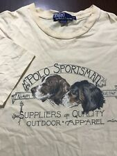 Vintage 90s Mens Sz M Polo Sportsman Ralph Lauren T-Shirt Made USA Outdoor Dogs
