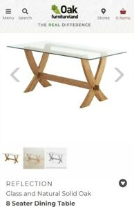 Oak and Glass Dining Table From Oak Furniture land Reflection Range