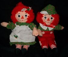 VINTAGE 1990 PLAYSKOOL RAGGEDY ANN & ANDY CHRISTMAS STUFFED ANIMAL PLUSH TOY
