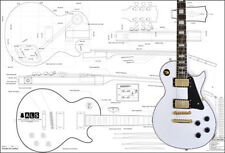 Gibson Les Paul Custom Electric Guitar Full-Scale Plan