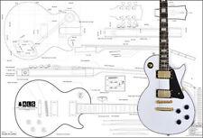 Gibson Les Paul Custom Electric Guitar Full-Scale Plan