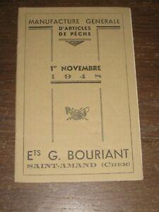 catalogue  pèche ancien bouriant saint amand 1948