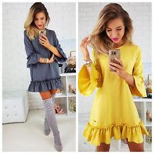 Damen Kleid Minikleid Abendkleid Trapezkleid 36 38 40 42 S M L XL