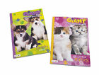 Set of 2 Giant Puppies Kittens Dogs Cats Kids Coloring Book Activity Books Set