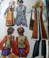 *LOVELY VTG 1970s EMBROIDERED VESTS Sewing Pattern MEDIUM