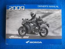 Honda 2009 CBR1000RR/A Hurricane  BRAND NEW Original Factory Owners Manual P797