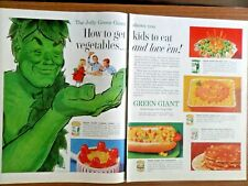 1962 Green Giant Ad Jolly Green Giant Kids Vegetables 1962 Coro Jewelry Pins Ad