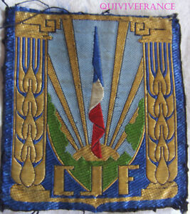 IN11321 - TISSU C.J.F. INSIGNE GENERAL DE POITRINE