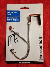 Chrome Plated Heavy Duty Over The Door Coat Towel Double Hook New