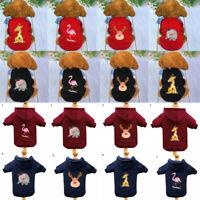 Pet Sweater Plus Velvet Winter Clothes Dog Shirt Puppy Accessory Warm Sweater