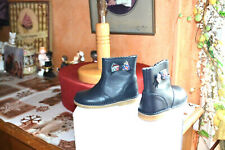 chaussure neuve cyrillus  26  bottine noeud liberty tout cuir marine mondial pos