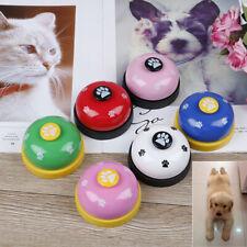 Pet training bell dog toys Puppy Pet Call Dog paw print ringer pet suppliL Fn
