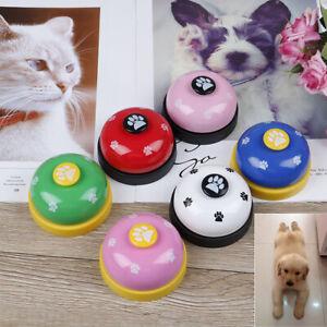Pet training bell dog toys Puppy Pet Call Dog paw print ringer pet supplies ^BI