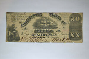 T-18 $20 Confederate Note- September 2, 1861  Very Fine