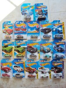 Lot of 17 Different Hot Wheels Volkswagen, on cards 1995-2019