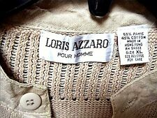MEN'S SUMMER CASUAL KNIT SHIRT by LORIS AZZARO~XL~EXCELLENT COND.~NOW REDUCED