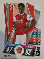 2020/21 Match Attax UEFA Champions League - Bukayo Saka Arsenal Card