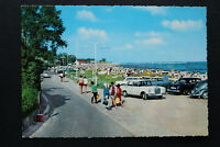 AK Ostseebad Grömitz 1970er Mercedes VW und andere Auto Oldtimer Strandkorb +++