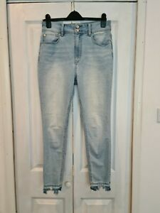 Free People We The Free Skinny Frayed Jeans ~ Worn Once ~ Size 12 W31