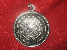 SOL SUN MEXICAN MEXICO AZTEC MAYAN CALENDAR DOMED PENDANT CHARM FASHION JEWELRY
