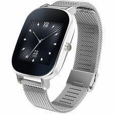 ASUS ZenWatch 2 (WI502Q(BQC)-1MSIL0001 Smart Watch Metall 113mm Silber Stahl NEU