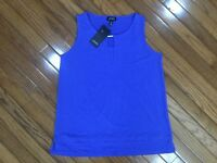 NWT Jones New York Women's Sleeveless Blouse Top Sz M MSRP $49