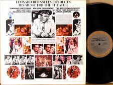2 LPs COLUMBIA MASTERWORKS Leonard BERNSTEIN Theatre Music MG-32174
