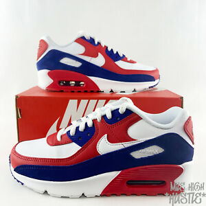 Nike Air Max 90 GS 6Y Women's Size 7.5 USA Red White Blue