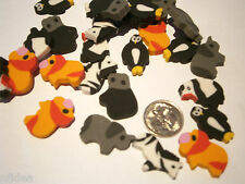 24 x Asst Zoo Animals Mini Erasers, Eraser, Rubbers Great for Party, Loot Bags