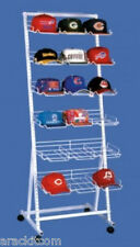 Portable Sport Cap Display Rack - 18 Pocket Hold Up To 216 Caps (White Finish)