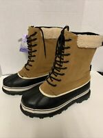 Revelstoke Mens Overland Tan Sherpa Snow Boots Shoes 9 New Condition Without Box