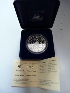 FRANCE 10 Francs Argent BE 1996 Coupe du Monde Idéal du Football