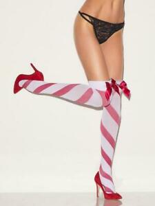 Job Lot of 42 Ann Summers Stripe Marabou Over The Knee Stockings Size L/XL,  XS