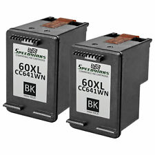 2 Pk Reman replacement for HP 60XL / CC641WN High Yield Black Ink Cartridge