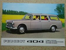 PEUGEOT 404 - FAMILY ESTATE - ORIGINAL CAR SALES BROCHURE - from 1970.