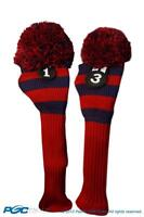 1 3 Classic BLUE RED KNIT POM golf club Headcover traditional Head covers Set
