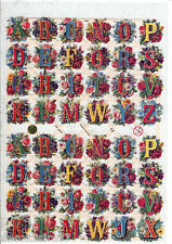 Chromos/avec Glitter/Fleurs/Lettres/Alphabet/7286