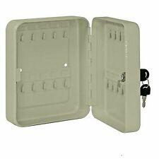 Wall Mounted Lockable, Metal Key Cabinet, Holds Key Security Storage Cupboard
