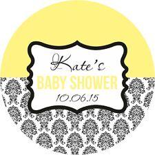 Baby Shower ADESIVI RAGAZZO/RAGAZZA/UNISEX LARGE 60mm ADESIVI Lucida Borsa Regalo Festa