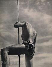 1935 Vintage SEMI NUDE MALE Man Butt Tahiti France Photo Art 16x20 PIERRE VERGER