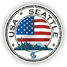 USA Seattle Stamp Seal Sticker Decal for Car Laptop Tablet Fridge Door