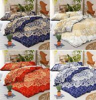 Boho Mandala Duvet Cover Bedding Set Single Double King Size Indian Quilt Cover